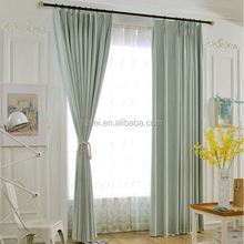 Custom ready made hotel Fire Retardant blackout drapery curtain fabric