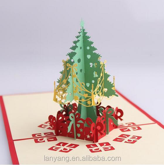kreative scherenschnitt 3d weihnachtsbaum frohe. Black Bedroom Furniture Sets. Home Design Ideas