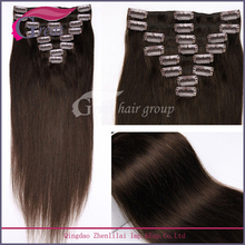 factory supply wholesale price 100%human hair clip in hair extension