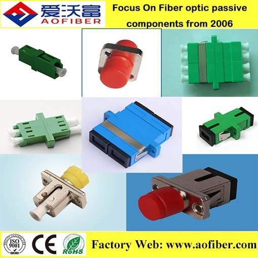 economical 2017 price fiber adapter mating sleeves hybrid adaptor SC PC simplex duplex Fiber Optical Adapter