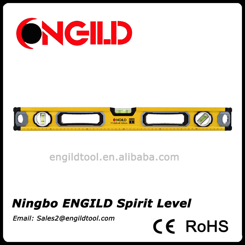 box type Professional grade magnet aluminium spirit level