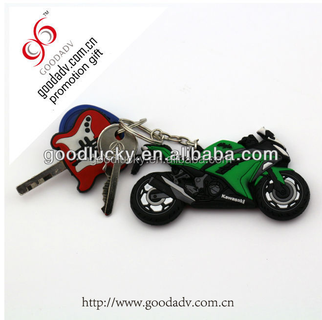 Fashion Promotional gift Motorcycle Shaped custom 3d pvc keychain