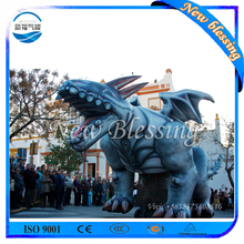 Advertising huge inflatable model blue dragon, giant inflatable dragon