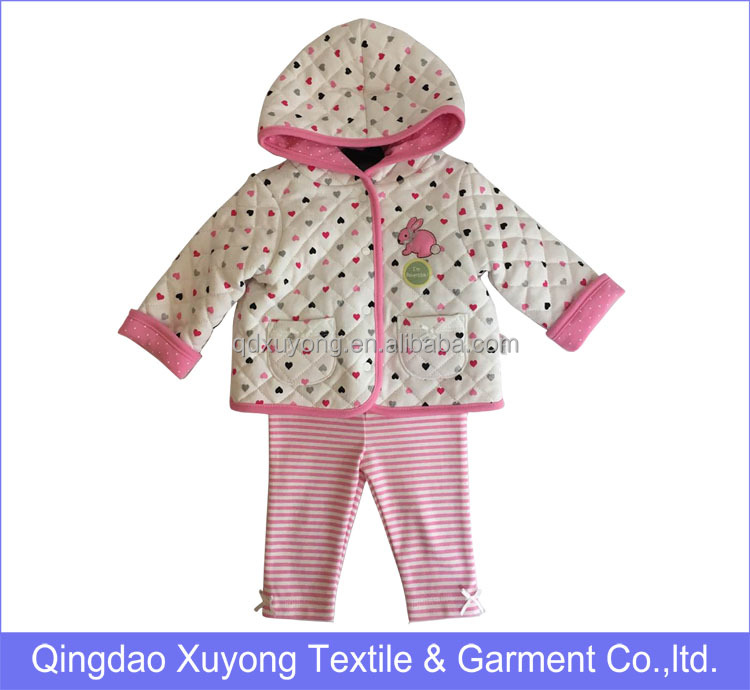 Baby Fashion cotton sets, 2016 Infants Clothes 2pcs Winter Clothing