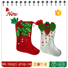 XS-10AB Wholesale custom stage decoration for christmas/Christmas stocking