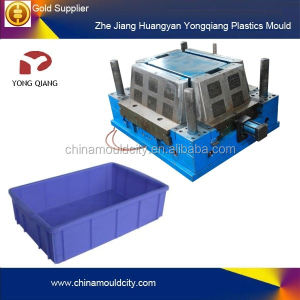 Plastic Fruits & Agricultural big Crates Moulding For plastic injection, Hot runner auto drop plastic fruit crate mold/mould