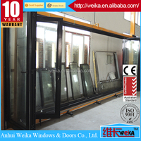 double glazed new folding door/plastic folding door