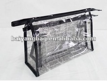 Tansparent PVC travel toiletry bag/clear travel toiletry bags