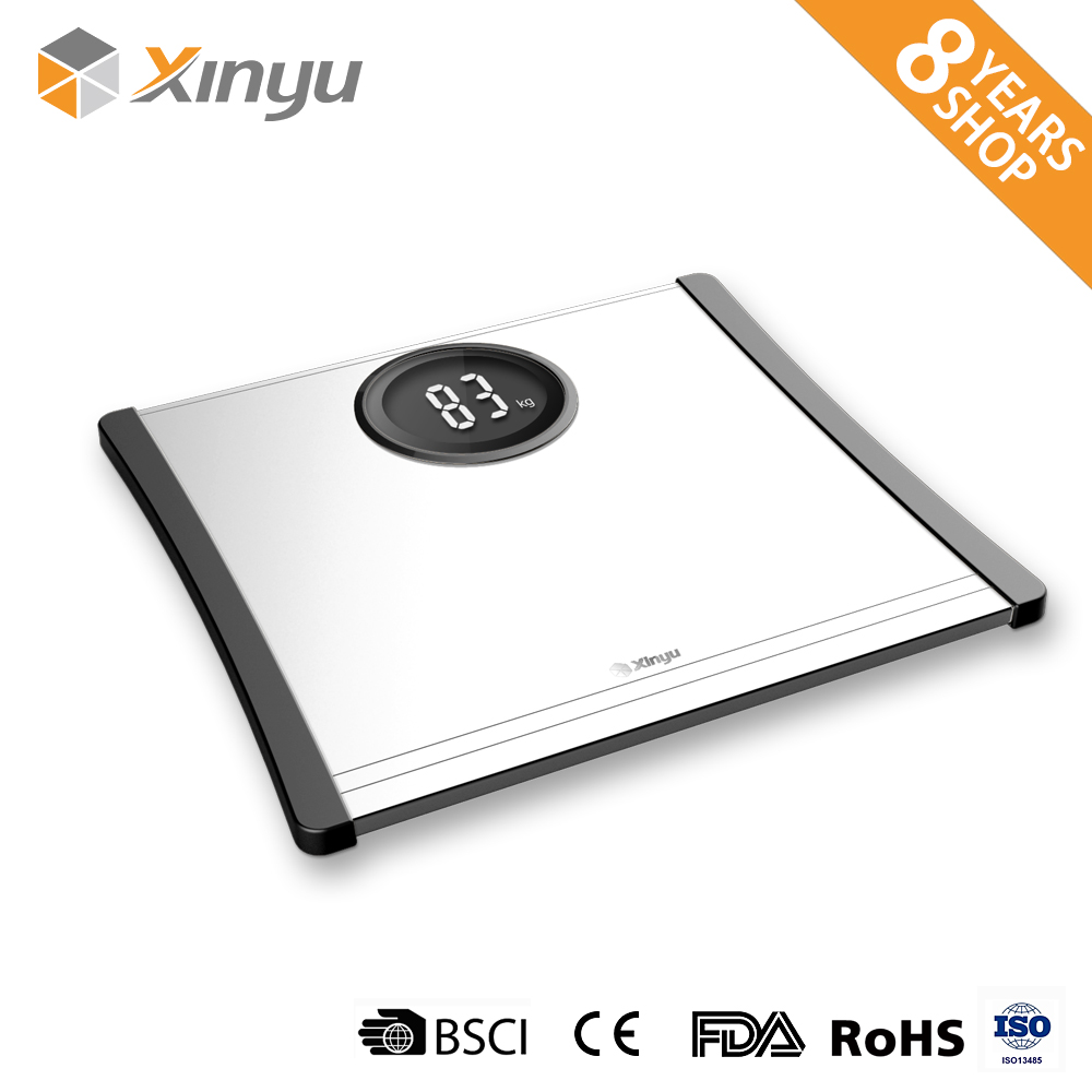 Aluminum surface household digital body weight bathroom scale 180kg