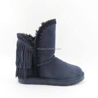 woman leather cow suede winter boots