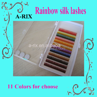 Individual Multi Colored Eyelash Extensions Rainbow Color Lashes 0320