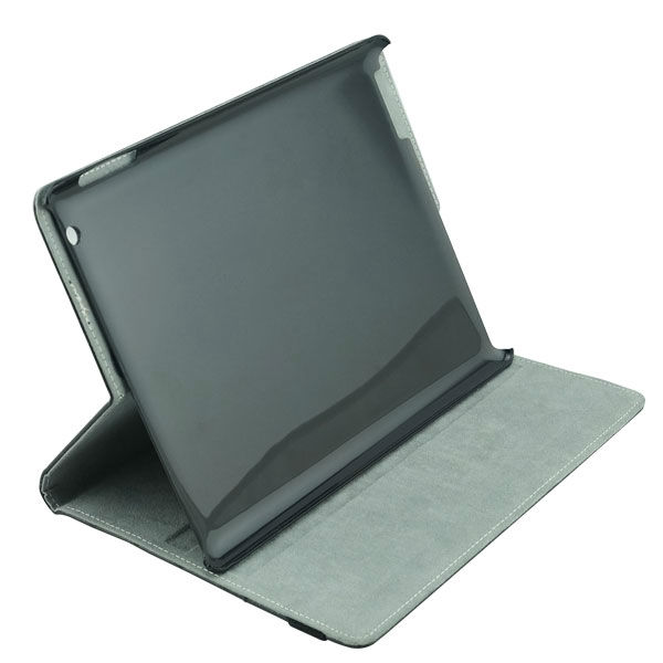 Black leather case with stand for ipad