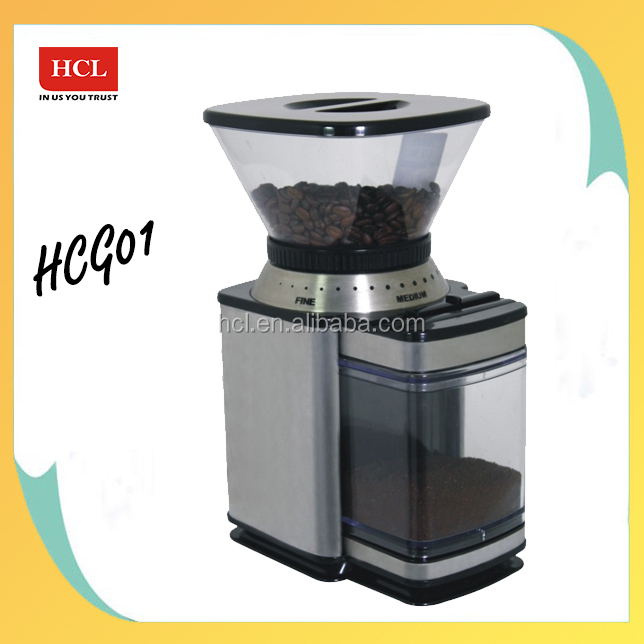 1.0L electric commercial coffee grinder for stainless steel body