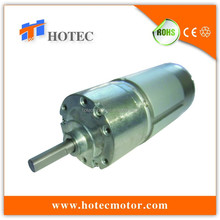low noise 37mm dia gearhead high torque reversible low speed small gearbox motor dc 24volt