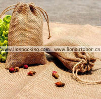 Jute bags sacks for seeds in garden