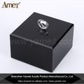 Wholesale Transparent Black Acrylic Cosmetic Holder With Handle