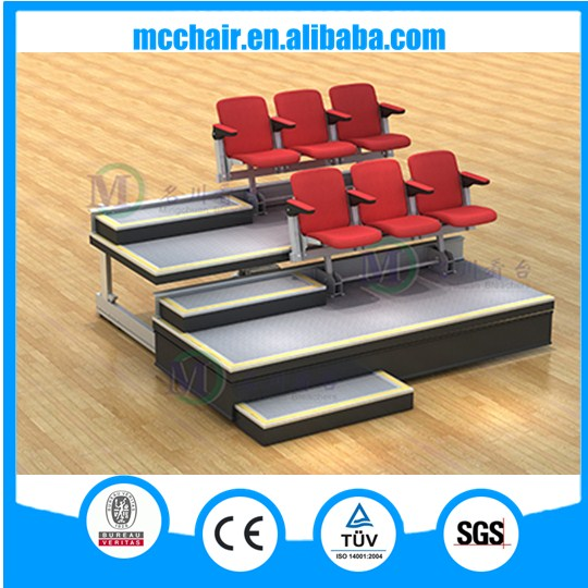 Celebration factory price CE indoor tribune theater portable grandstand metal stand retractable bleacher seating