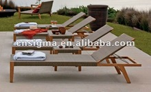 2016 Porch Furniture Outdoor Wicker Chaise Lounge Cheap Sun Loungers For Sale