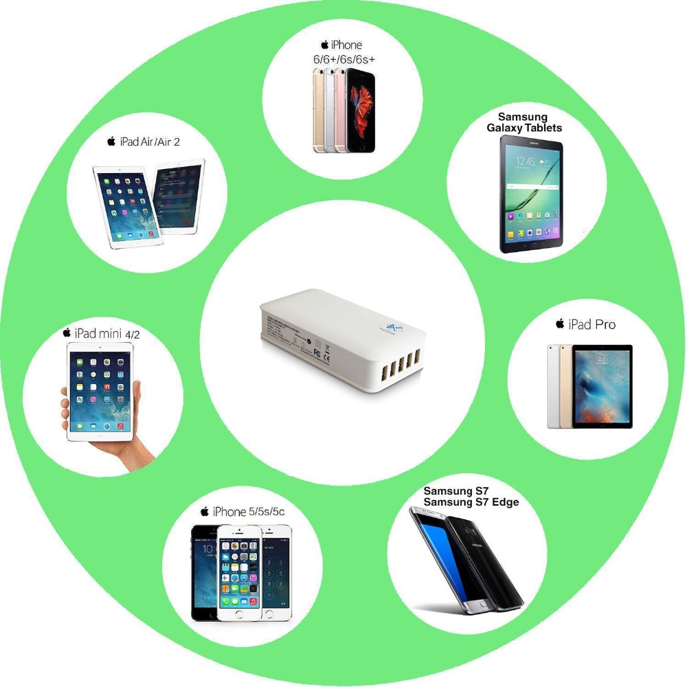 mobile phone accessories and tablet accessories multi port charger