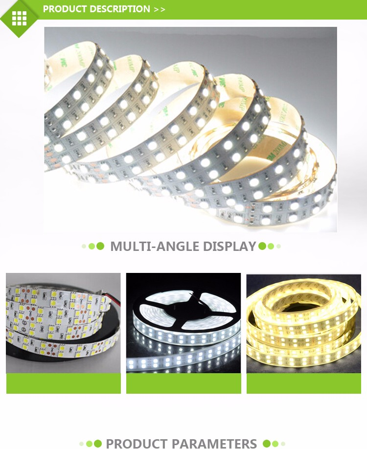 12v double row cri90 super flexible led strip light 5050