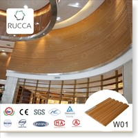 Rucca high quality eco-friendly decorative wall panel, wpc wooden interior wall paneling white boards159*10mm China suppliers