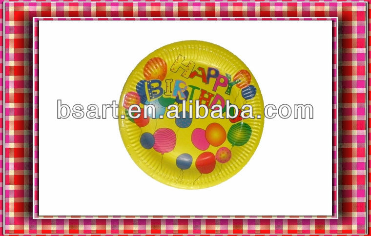 Promotion round birthday cake plate(paper)