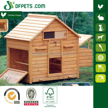DFPets DFC006 Wooden Poultry Coop With Nesting Box