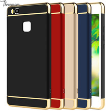Moblie Cell Phone Case For Huawei P10 Lite P9 P8 2017 3 In 1 Plastic Hard PC Case For Mate 8 9 Honor 6X 8