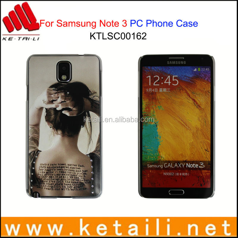 For Samsung Galaxy Note 3 Funky Plastic Mobile Phone Case with Shiny Diamond