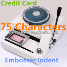 JIAXU 75CE characters 2 IN 1 Manual PVC card raised character embossing machine with indent