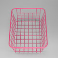 550-13A home pink color metal wire basket for laundry bathroom