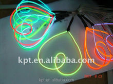 high brightness colorful EL wire for decoration