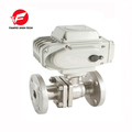 380v 220v dn80 ss304 electric stainless steel flanged ball valve