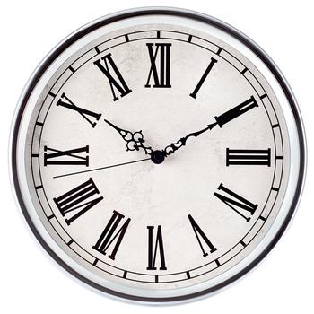 European Style Roman Numerals Chrome Plating Clock Iron