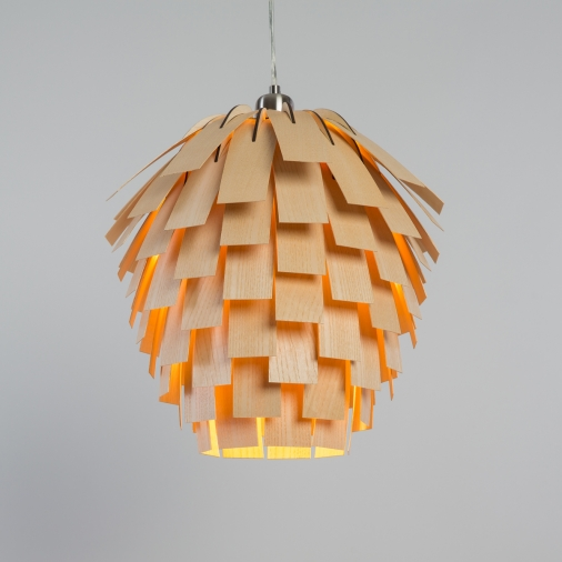 Nordic Vintage wooden pendant light Scots Light pine cone wooden hanging lamp