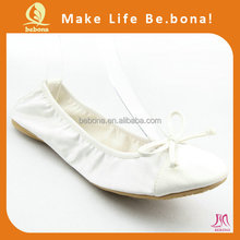 Wholesale comfortable white bride shoes the maid of honor