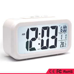LCD screened snooze light alarm clock with big screen multi function
