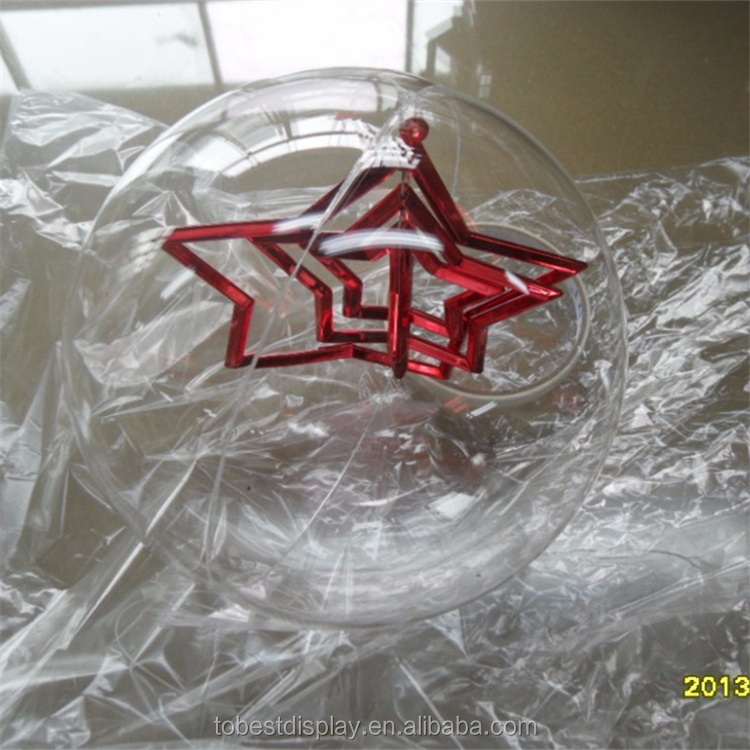 High quality christmas ball wholesale clear glass