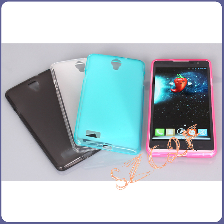 China Supplier Cell 2016 Matt Transparent Clear Gloss Custom PC Crystal TPU Case for ZTE Grand X2