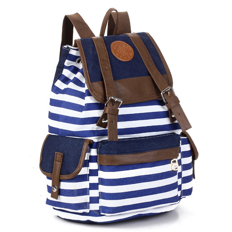 389503bbfc32 Buy 2015 Stripe Women Printing Backpack Women School Bags Travel bags  College Students Backpack women Shoulder Bags Campus Bag BB12 in Cheap  Price on ...