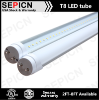 UL/DLC Qualified 18Watt 4ft T8 Frost Lens LED Tube Light
