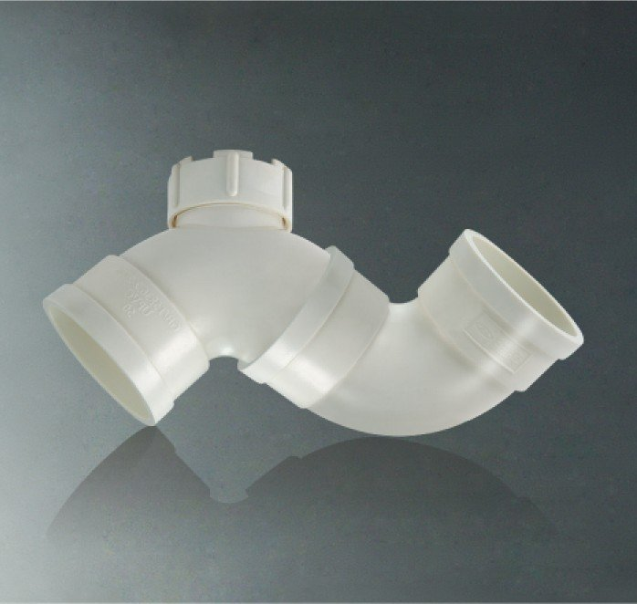 "cute style ""S"" type pvc gully trap with checking hole fittings"