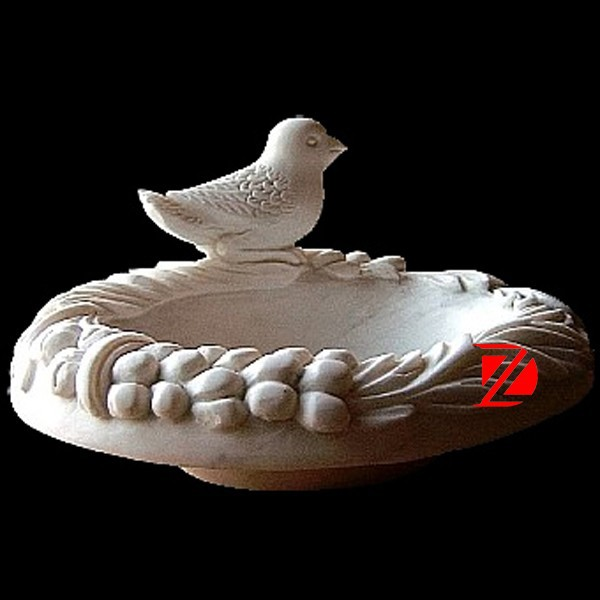 hand carved stone bird bowl