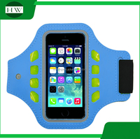 outdoor sport accessories logo printed luminous armband running stretch led mobile phone armbag arm band
