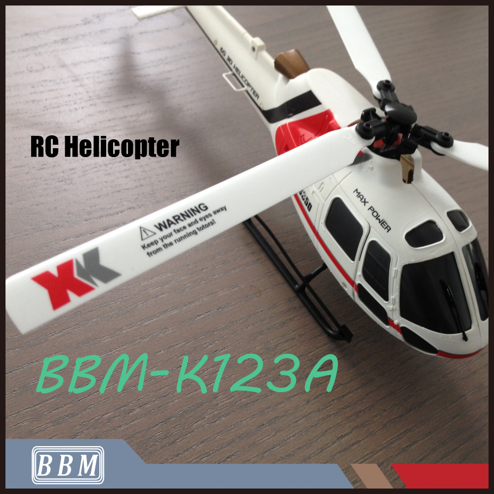 K123A 3D6G Mode AS350 <strong>Model</strong> 6CH Flybarless Three Blades Drone Helicopter Without Remote Control