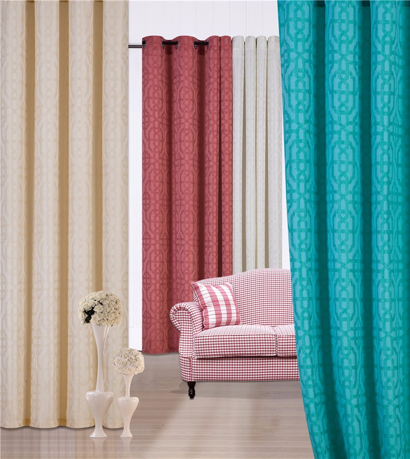 1pc Jacquard Window Curtain With Modern Design