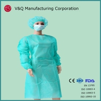 Non woven disposable prptective latex free exam gown