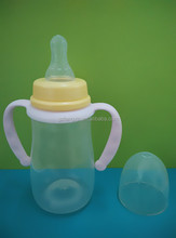 Food grade plastic feeding bottle for baby drinking milk and water