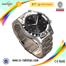2016 Men Style Round Stainless steel Bluetooth android smart watch T2