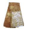High quality wholesale custom cheap embroidery gold african french lace fabric